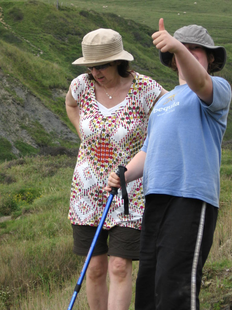 Jane with Findaly who is pointing the way ahead